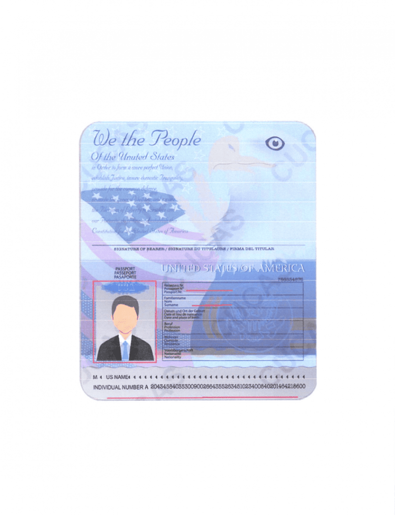 EXAMPLE PASSPORT AND VISA SCAN-1